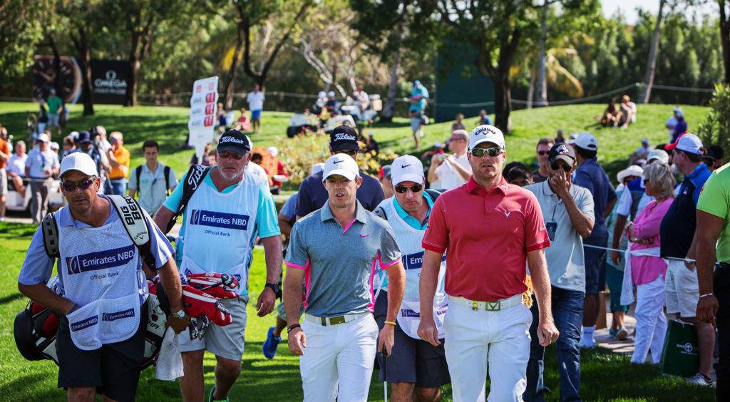 Sportfotograf -PGA Golf players. Henrik Stensson Rory McIlory