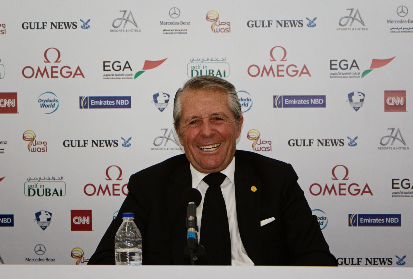 Gary player golf fotograf Golflegenden Gary Player under presskonferens