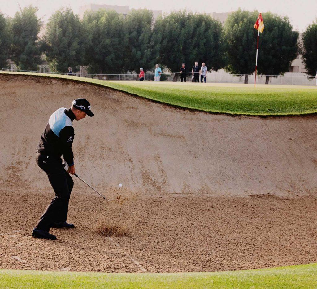 Sportfotograf -Chip spel från bunker i Dubai
