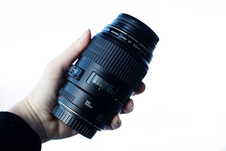 makrofotografering objektiv 100mm Canon macro lins