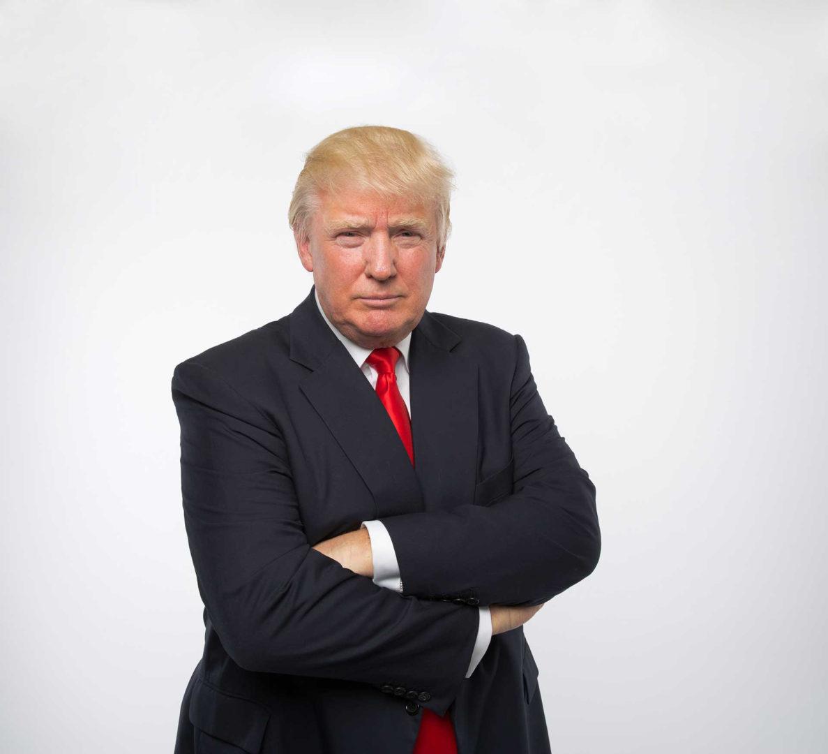 Donald Trump  Fotograf Porträtt av President Donald Trump