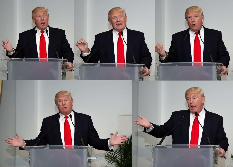 Donald Trump  Fotograf President Donald Trump talar vid talarpodie