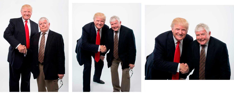 Donald Trump  Fotograf President Donald Trump skakar hand med Mike Gallemore