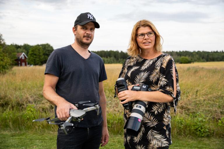 Roger Binbach och Professionella företagsfotografen Helen Shippey