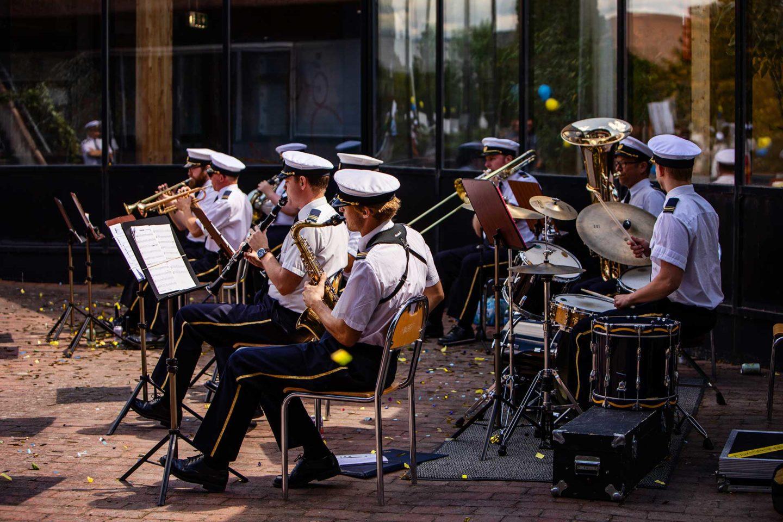 Studentfirande i Köping på Ullvigymnasiet