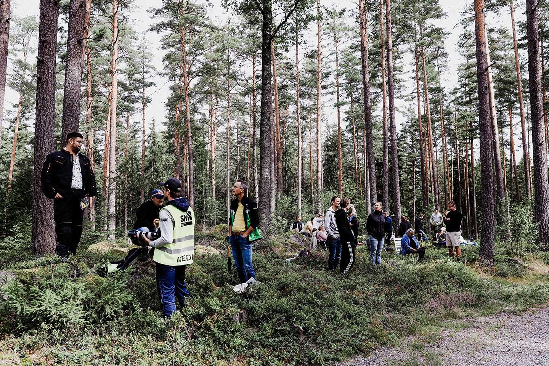 Rallyfotografering  Rally publik i Kolsva skogarna