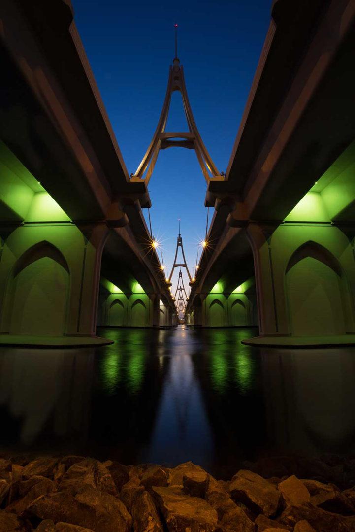 Fotograf bilder Bro i Dubai Sheikh Mohammed bridge