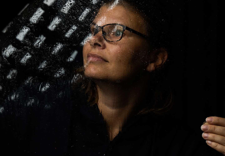 Porträtt på en kvinna