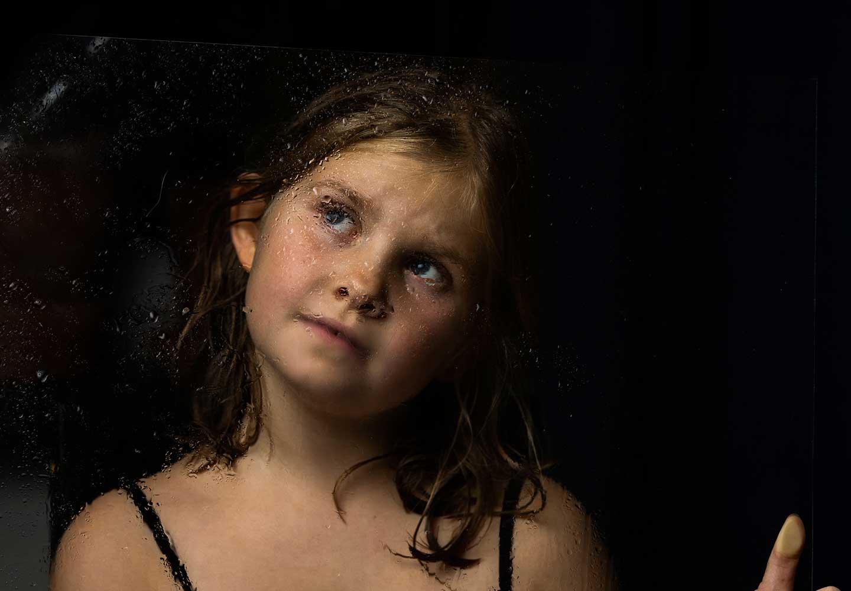 Porträtt på ett barn