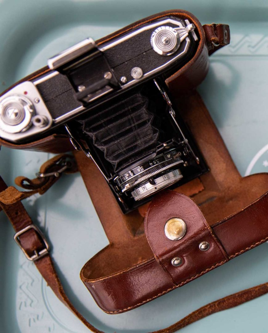 Fotograf bilder Fotograf bild på en gammal analog kamera