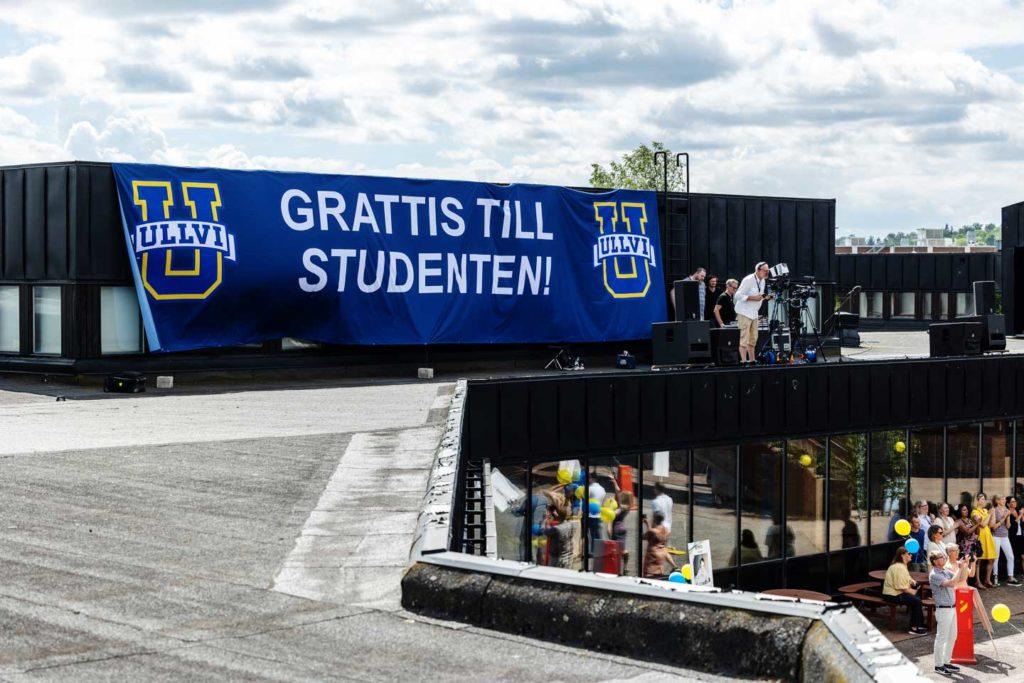 Student firante vid Ullvigymnasiet i Köping