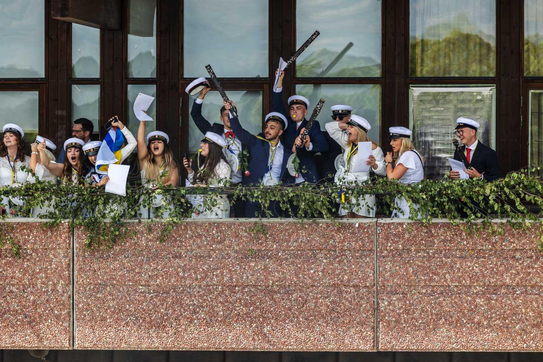 Student firande vid Ullvigymnasiet i Köping